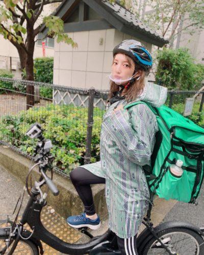 堀みづき(美人すぎるウーバーイーツ)自転車や配達エリアや依頼は可能?