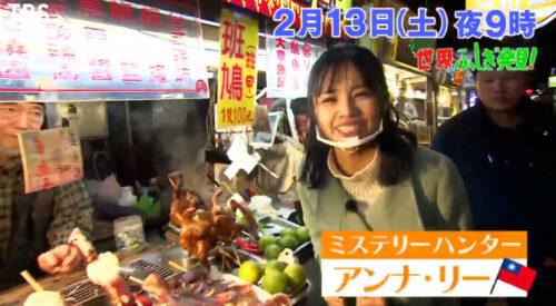 ふしぎ発見で台湾のミステリーハンターにアンナ・リー登場!プロフィールや年齢や経歴(出演歴)は?